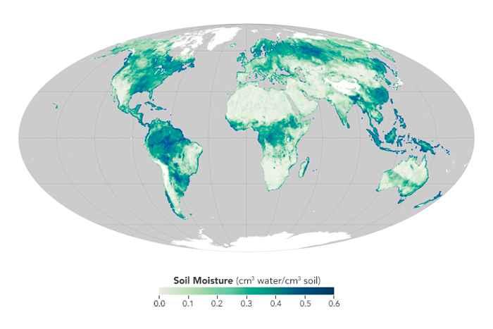 medidas globales de humedad por satélite