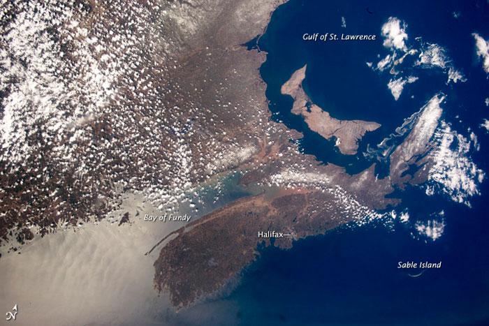 Nueva Escocia y la Isla del Príncipe Eduardo desde el espacio
