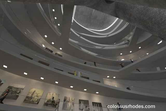 interior del nuevo Coloso de Rodas