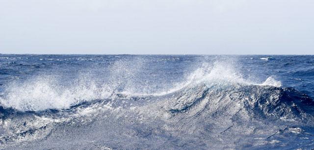 olas en el Atlántico tropical