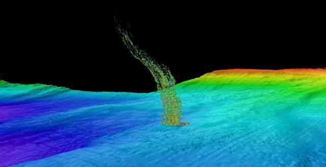penacho de metano en el océano