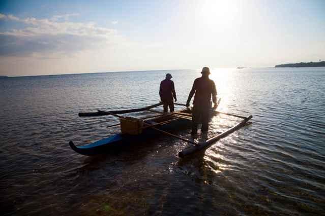 pescadores tradicionales filipinos