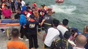 rescate en el ferry volcado en Filipinas