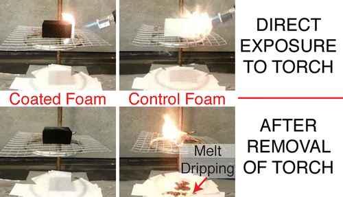 retardante de llama con polidopamina