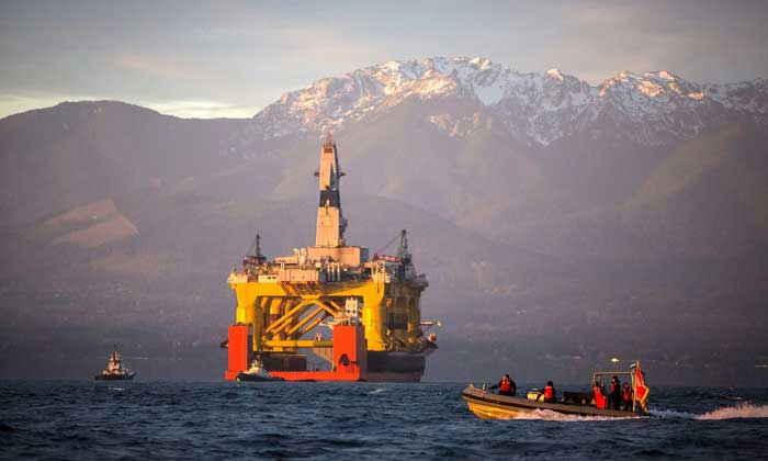 plataforma Shell Polar Pioneer en el mar de Chukchi