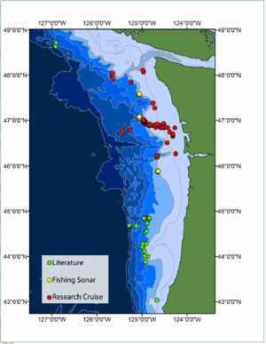 situación de las plumas de metano
