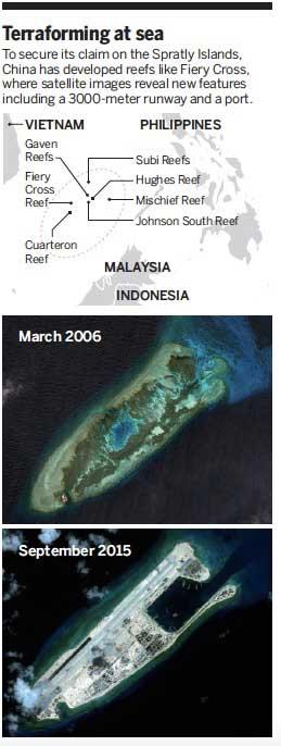 transformación de las islas Spratly