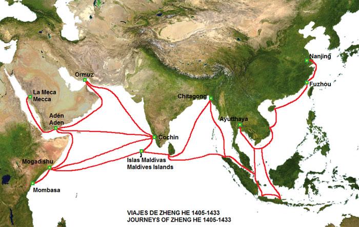 viajes de Zheng He