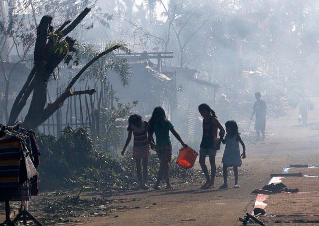víctimas del tifón Rubi, Filipinas