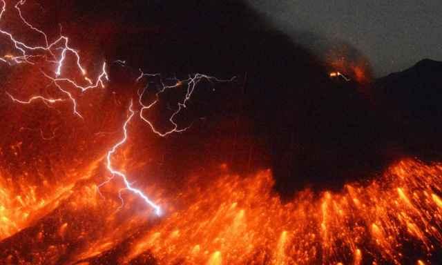 erupción del volcán Sakurajima en Japón