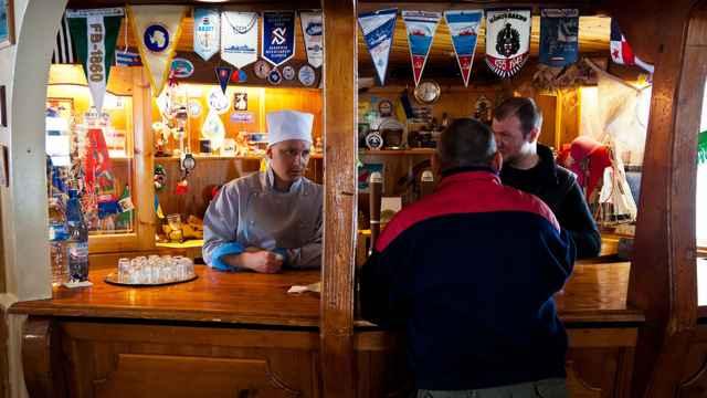 barra del Vernadsky Station Lounge, bar en la Antártida