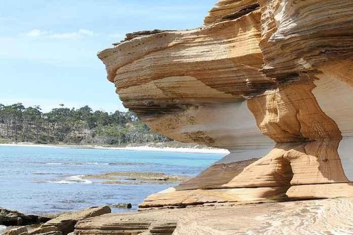 acantilados pintados de Isla María, Tasmania