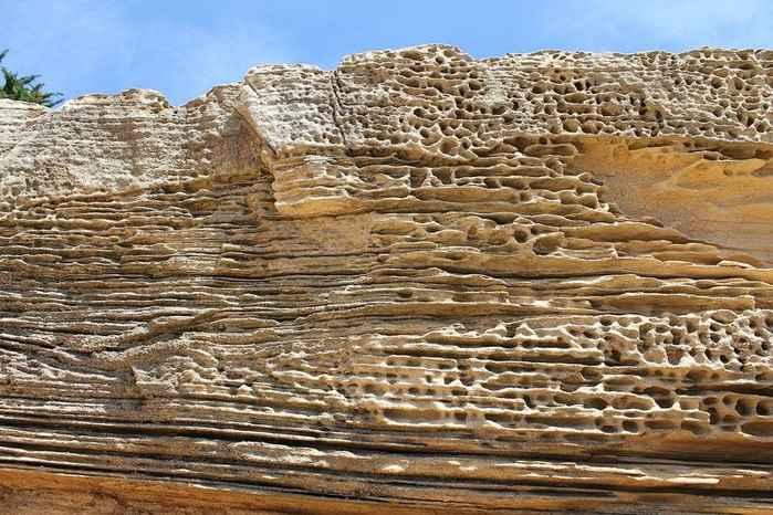 panal acantilados pintados de Isla María, Tasmania