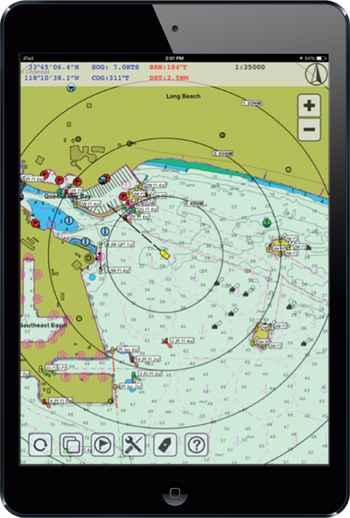 App de navegación en un smartphone
