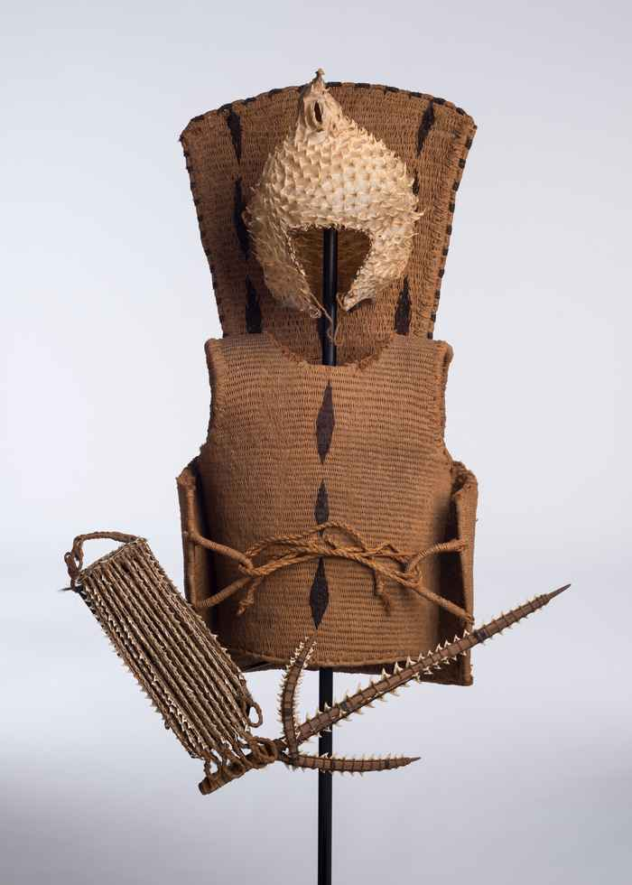 armadura de un guerrero de Kiribati