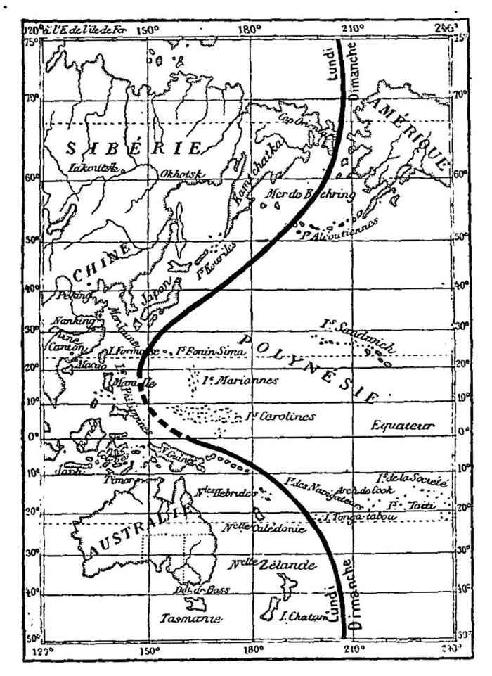 línea del calendario antes de 1845