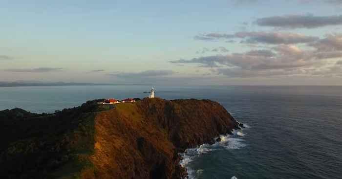 costa de Australia filamada con un drone