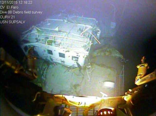carguero El Faro hundido en las Bahamas