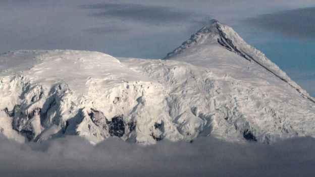 erupción en la cadena montañosa Big Ben, Australia