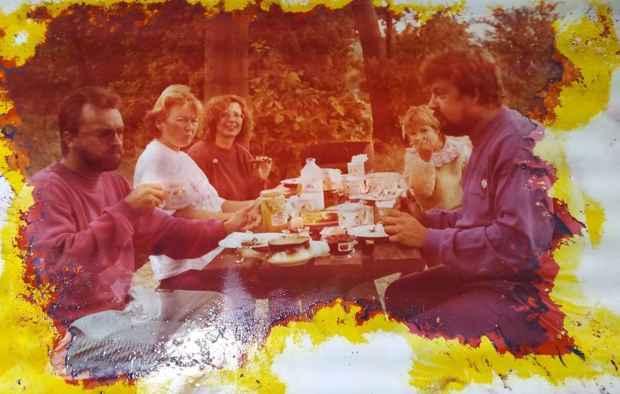 Manfred Fritz Bajorat con su familia