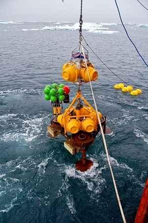 flotadores de medición en el Océano Austral