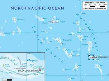 mapa de las Islas Marshall