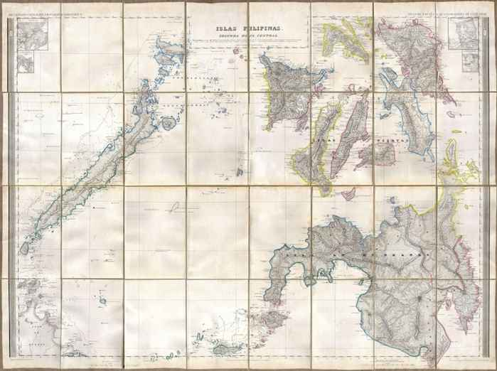 mapa del sur de Filipinas en 1852
