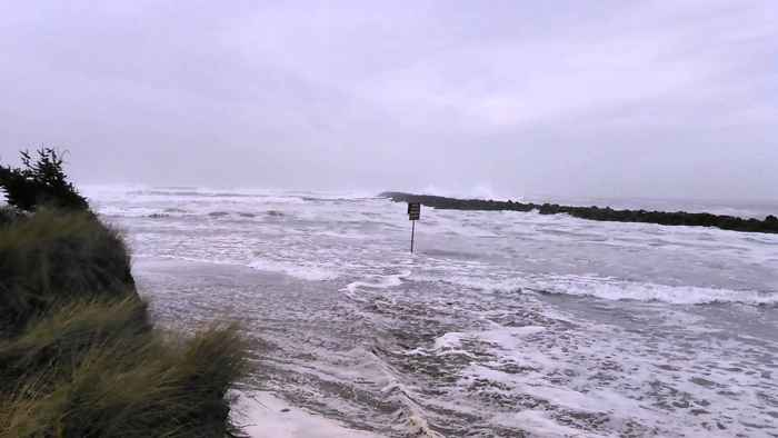 ola inesperada en Oregón
