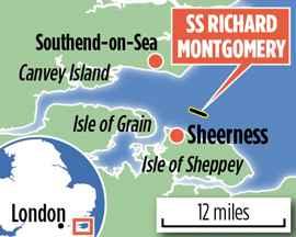 plano de situación del SS Richard Montgomery