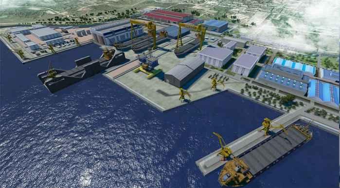 proyecto de mega-astillero de Zvezda, Rusia