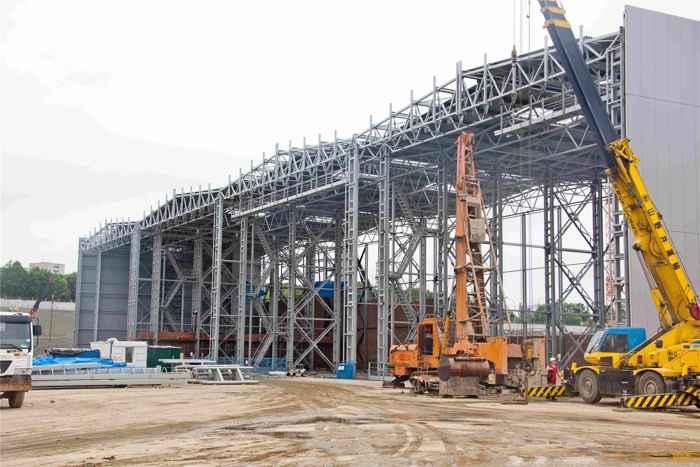 trabajos de construcción del mega-astillero de Zvezda, Rusia