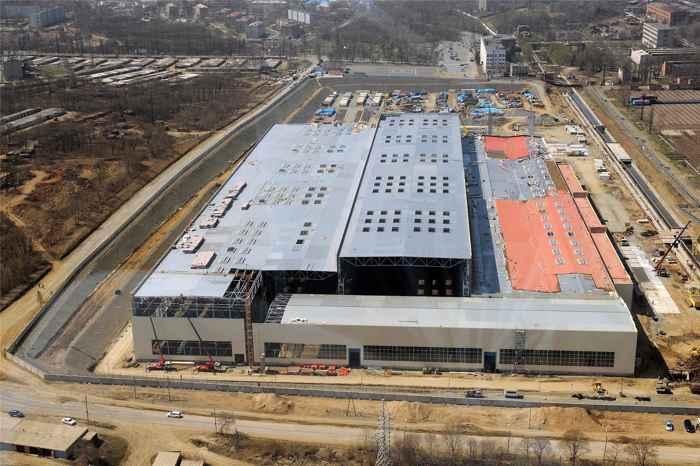 estado actual del mega-astillero de Zvezda, Rusia