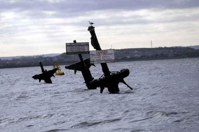 señales de peligro en el SS Richard Montgomery