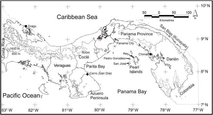 situación de la Isla de Pedro González, Panamá