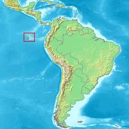 situación de las Islas Galápagos
