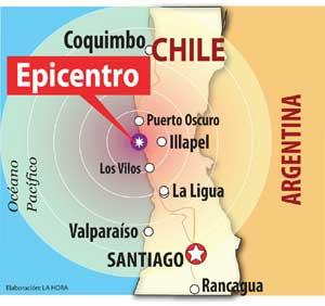 terremoto septiembre de 2015 Illapel, Chile