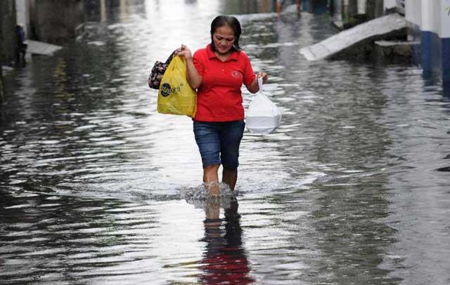 tifón Melor inunda Manila