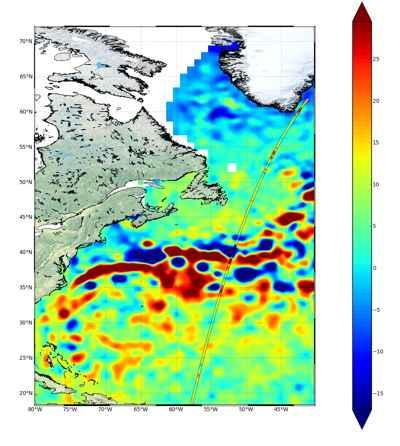trayectoria del nivel del mar desde el Sentinel-3A