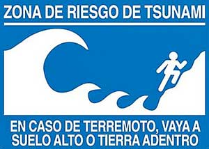 zona de riesgo de tsunami
