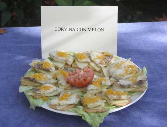 corvina con melón