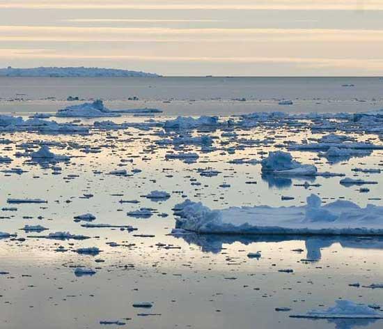 Las aguas heladas del Océano Antártico