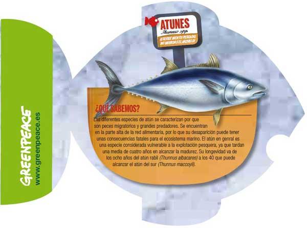 atún en la lista roja de pescados de Greenpeace