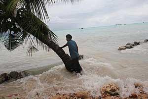 aumento del nivel del mar en las Maldivas
