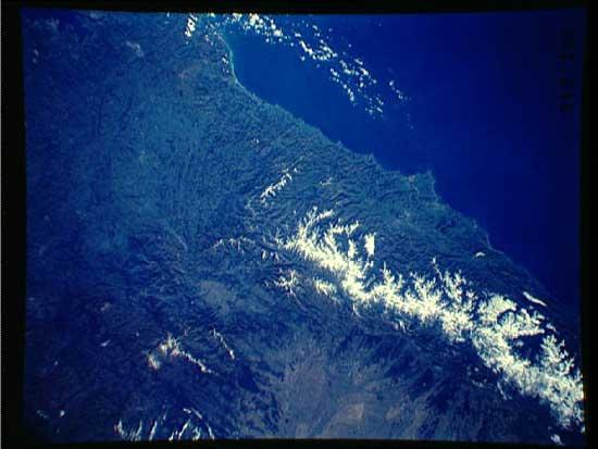costa cantábrica en Vizcaya, desde satélite