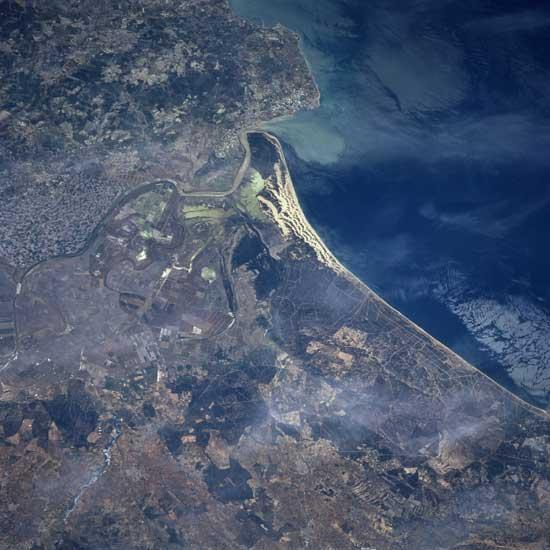 Delta del Guadalquivir desde satélite