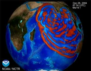 propagación global del tsunami de 2004 de Sumatra
