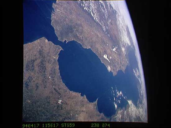 Estrecho de Gibraltar, vista desde satélite