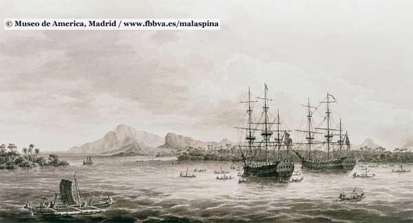 fragatas Descubierta y  Atrevida, expedición Malaspina