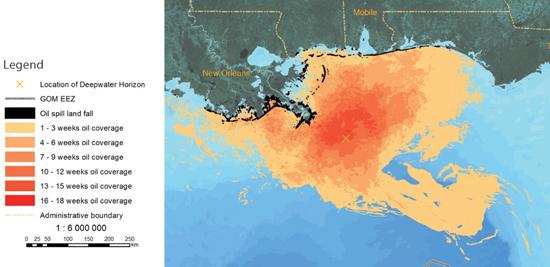 frecuencia de puestas de huevas del atún rojo en el Golfo de México