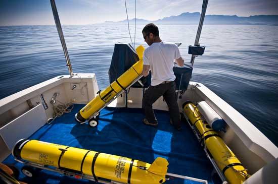 manejando los gliders, planeador submarino autónomo